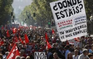 spagna proteste
