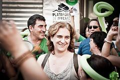 Ada Colau vince a Barcellona appoggiata da Podemos ed altri partiti di sinistra (foto Andrea Ciambra https://www.flickr.com/photos/tchacky)