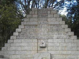 Il monumento a Lluis Companys fucilato dai franchisti il 15 ottobre 1940 (fonte Wikimedia.org, Autore: Àlex)