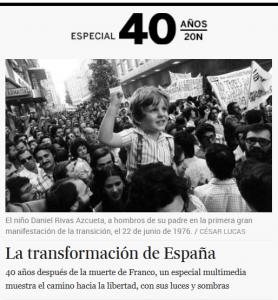 Lo speciale de El Pais a 40 anni dalla morte di Franco