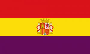 La bandiera repubblicana spagnola