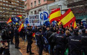 Manifestazione del gruppo neofascista Hogar Social a Madrid