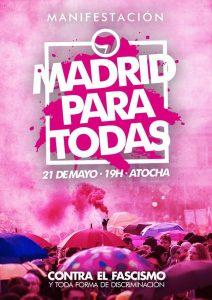 Il manifesto della manifestazione antifascista ed antirazzista del 21 maggio 2016 a Madrid, contro la concentrazione neofascista di Hogar Social